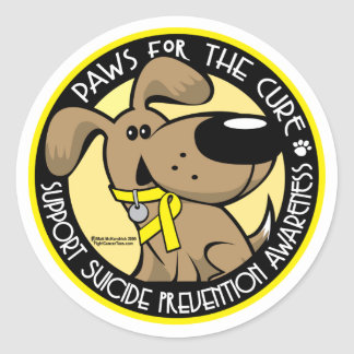 Paws for the Cure Suicide Prevention Classic Round Sticker