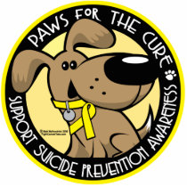 Paws for the Cure Suicide Prevention Cutout