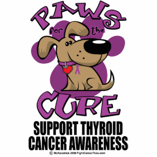 Paws for the Cure Thyroid Cancer Photo Cutout