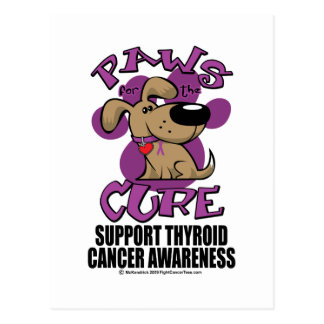 Paws for the Cure Thyroid Cancer Postcard