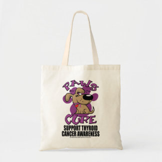 Paws for the Cure Thyroid Cancer Tote Bag