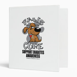 Paws for the Diabetes Dog 3 Ring Binder