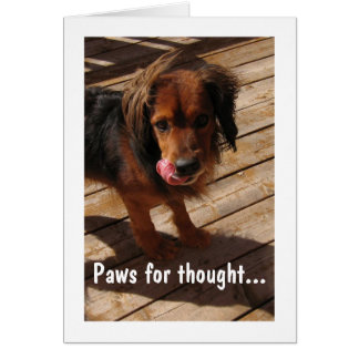 Paws for thought: Dog 2 Stationery Note Card