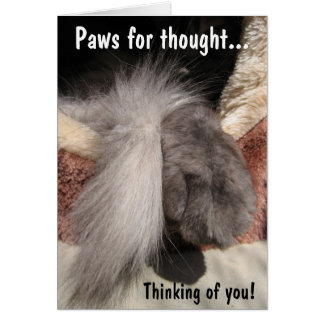 Paws for thought: Paw and Tail Stationery Note Card