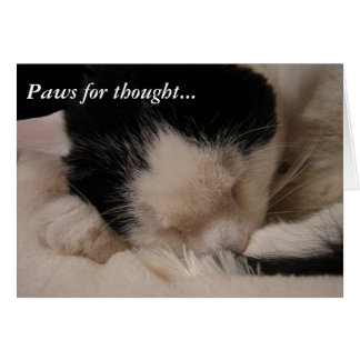 Paws for thought: Sleeping Beauty Stationery Note Card