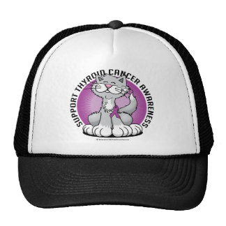 Paws for Thyroid Cancer Cat Trucker Hat