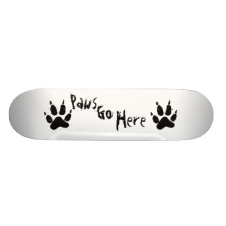 Paws Go Here Skateboard Deck