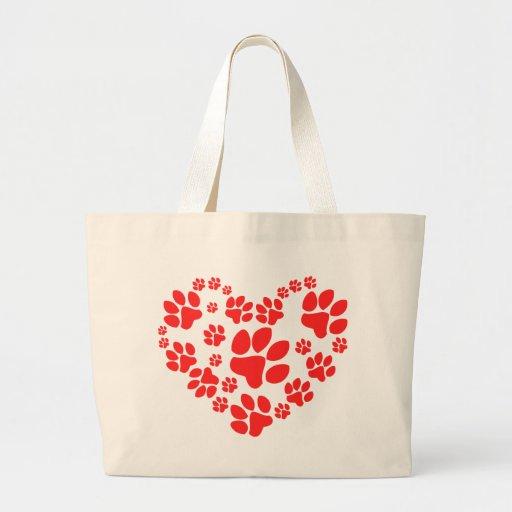 Paws Heart Jumbo Tote Bag