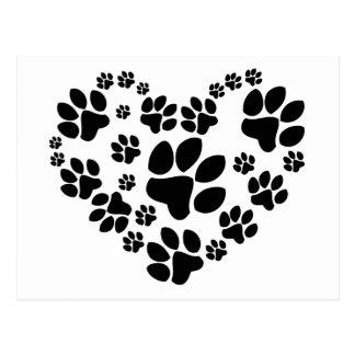 Paws Heart Postcard