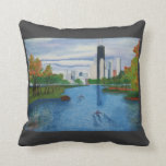 """Paws Here 20""""x20"""" Pillow """"Lincoln Park - Chicago"""""""