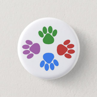 Paws Here Button Pin