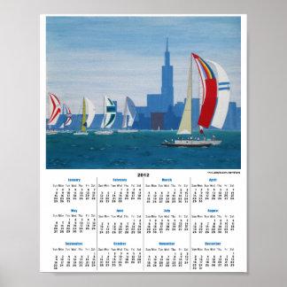 "Paws Here Calendar Poster ""Lake Michigan - Chicago"