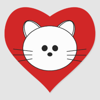"Paws Here Heart Sticker ""Kitty"""