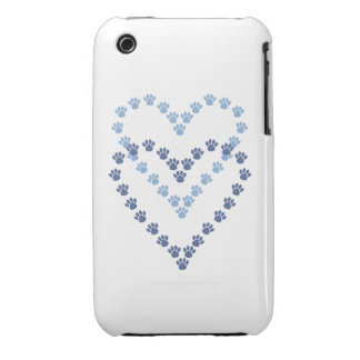 Paws Here iPhone 3G/3GS Case Heart Shaped Paw Prin