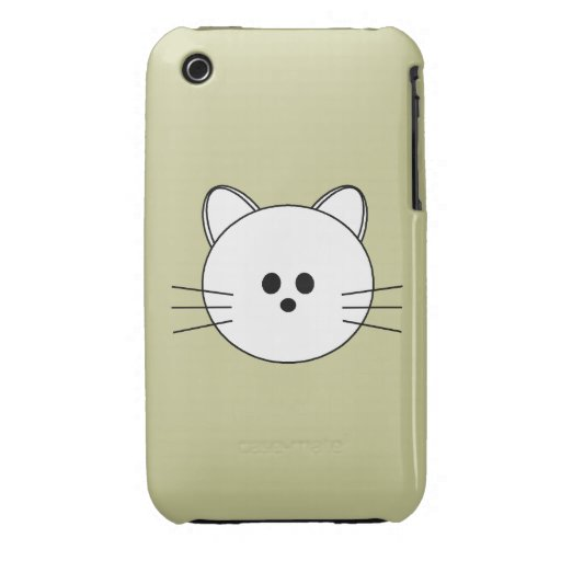 """Paws Here iPhone 3G/3GS Case """"Kitty"""" iPhone 3 Covers"""