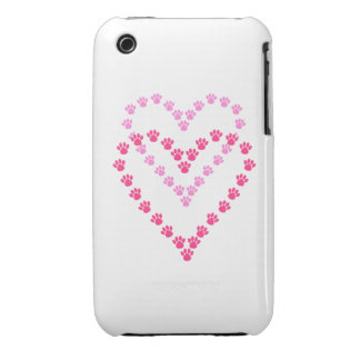 Paws Here iPhone 3G/3GS Case-Mate Pink Paw Prints iPhone 3 Case