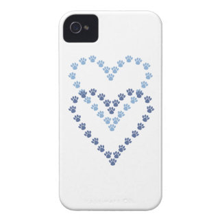 Paws Here iPhone 4/4S Case Heart Shaped Paw Prints