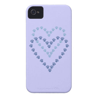 Paws Here iPhone 4/4S Case-Mate Case Blue Paw Prin iPhone 4 Case-Mate Case