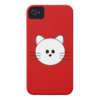 "Paws Here iPhone 4 Case ""Kitty"""