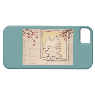 "Paws Here iPhone 5 Case ""First Flake"""