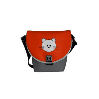 "Paws Here Mini Messenger Bag ""Kitty"""