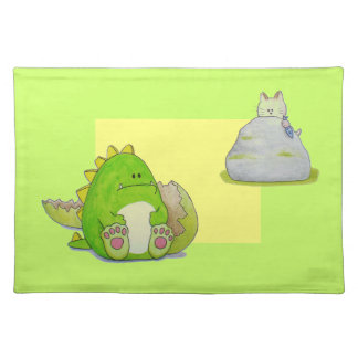 """Paws Here """"Paul and Cat"""" Placemats"""