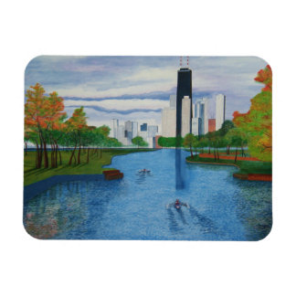 "Paws Here Premium Magnet ""Lincoln Park - Chicago"""