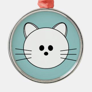 "Paws Here Premium Round Ornament ""Kitty"""