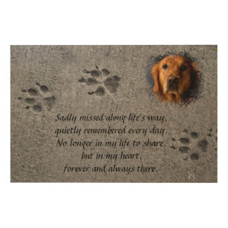 Paws in Cement – Always There Wood Wall Art