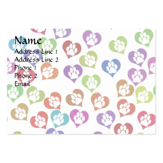 Paws in Hearts Large Business Card