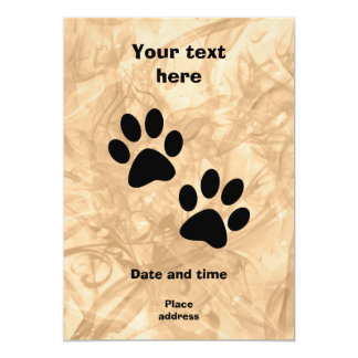 "Paws 5"" X 7"" Invitation Card"