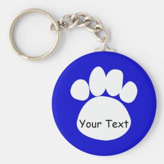 Paws Key Chain Blue