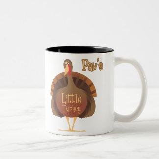 Paw's Little Turkey Two-Tone Coffee Mug