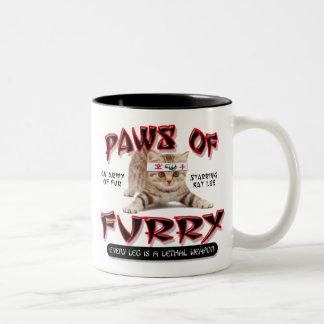Paws Of Furry Two-Tone Coffee Mug