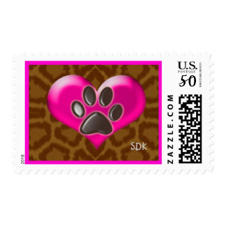 Paws of Heart and Health Healing from Animals Postage