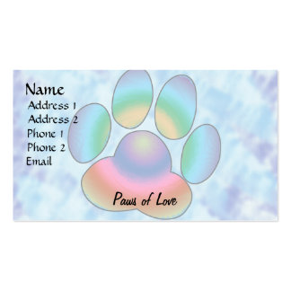 Paws of Love Business Card