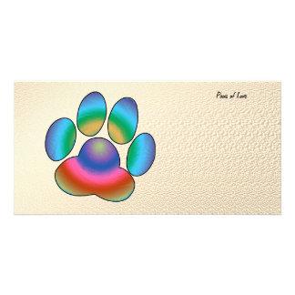 Paws of Love Custom Photo Card
