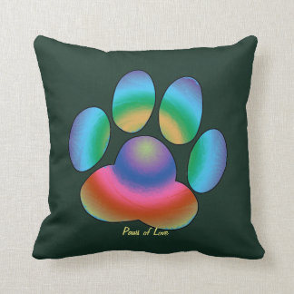 Paws of Love Throw Pillow