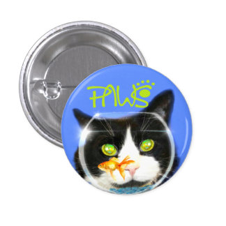 Paws of pa fish bowl cat button 1.25