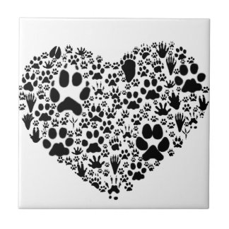 Paws of the Heart Ceramic Tile