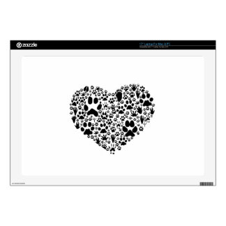 """Paws of the Heart Skins For 17"""" Laptops"""
