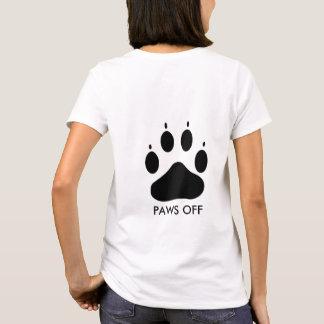 Paws Off Dog Paw Print Women's Basic T-Shirt