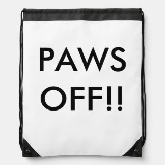 Paws Off! Drawstring Backpack
