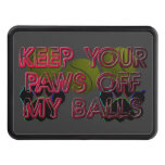 PAWS OFF MY BALLS HITCH COVERS