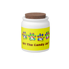 Paws Off The Candy Jar in Rainbow Colors at Zazzle