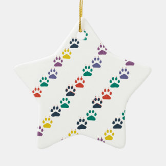 Paws & Paws Rainbow Colorful Domestic Animal Ceramic Ornament