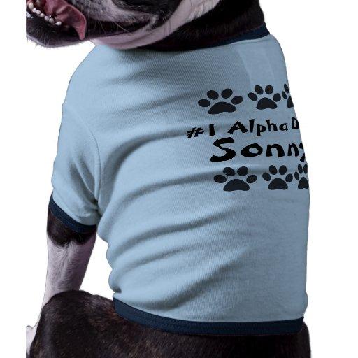 paws, paws, Sonny, #1 Alpha Dog Pet T-shirt