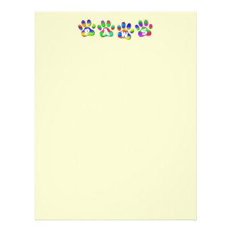 Paws Rainbow Color Pawprints Letter Flyer