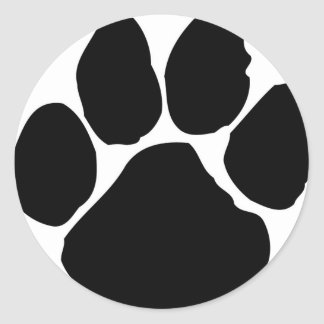 paws range of products classic round sticker