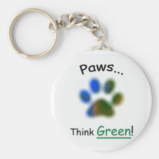 Paws...Think Green Keychain